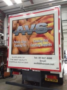 AVS van graphic