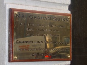 Graham Quinn Engraved Wall Plaque