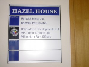 Hazel House Room Sign