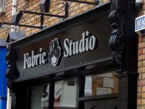 Fabric Studio Shop Sign