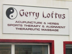 Gerry Loftus Shop Sign