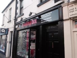 The Makeup Box Shop Signage