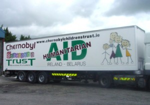 charity truck graphic