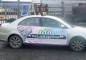 The Laptop Shop signage