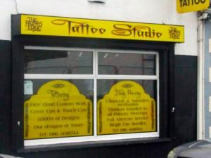Tattoo Studio shopfront
