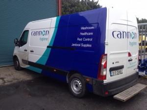 Cannon Hygiene Van Graphic