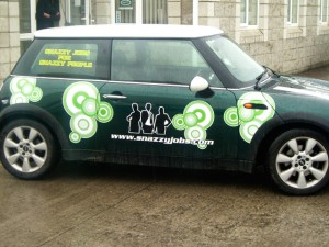 Snazzy Commercial Car Graphic