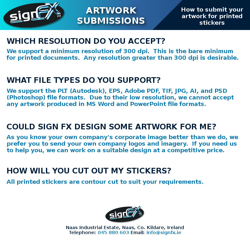 Sticker Artwork Submission Infographic