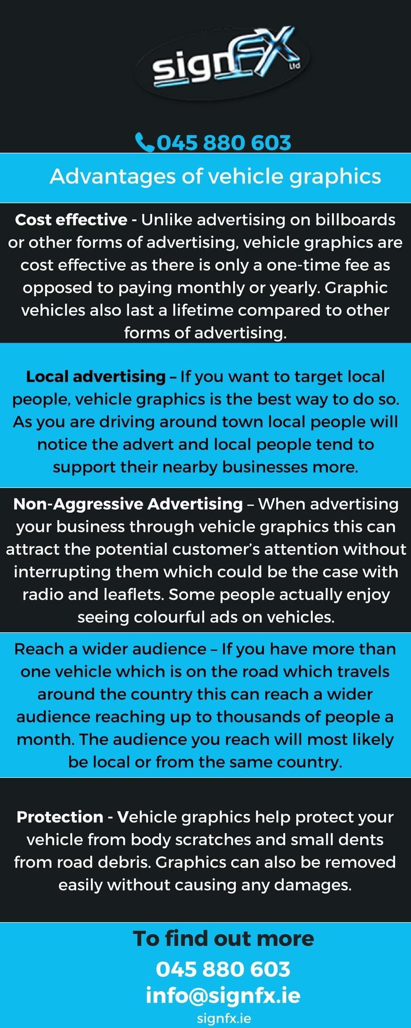 Advantages of vehicle graphics